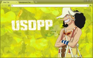One Piece Google Chrome Theme: Usopp by yohohotralala