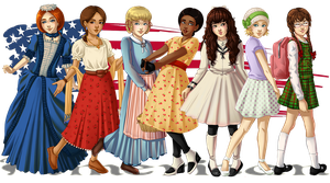 American Girls: 1774-1944 by Acaciathorn