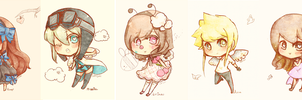 Experimental Chibi Batch 1 by SweetieMoon