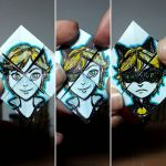 Face-changer origami Chat Noir by Lacrymosa-AM