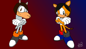 AmazingPhil and DanIsNotOnFire as sonic characters by EmoRock114
