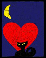 Cat and Heart by megalomaniac