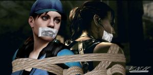 Jill and Sheva BSAA hostages by The-Miho-chan