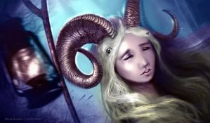 Lady with horns by farooky