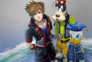 Kingdom Hearts - Sora Donald Goofy by pauldng