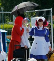 Madame Red, Drocell and Meirin at Convention by Kozekito