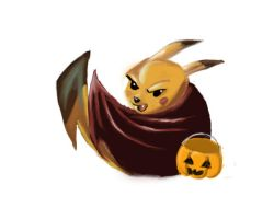 Halloween With Pikachu by ina0601
