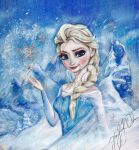 Elsa the Snow Queen by MissCosettePontmercy