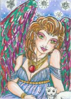 Winter's Angel (ACEO) by Keyshe54