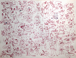 Eliias in his true form: a chaotic mass of doodles by WearyWere