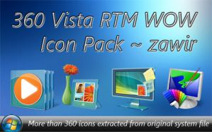 Vista RTM WOW PNG Icon Pack by zawir