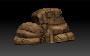 Cliff Rock - Sculpt Test by mhofever