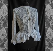 Blouse Frances, high neckline, Somnia Romantica by SomniaRomantica