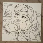 Anna canvas drawing by angelnablackrobe