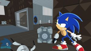 Sonic in Portal by Sonicth62