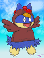 Munchlax as a Chicken by NocturnalMoonWolf