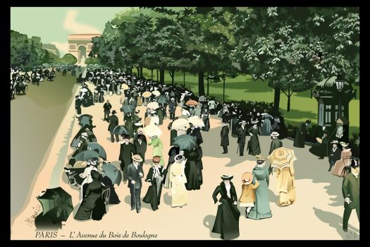 Back to Paris 1900 by Zhaana