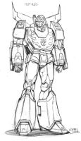 AHM Hot Rodimus prelim. sketch by GuidoGuidi