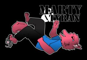 Marty and Tyran Magnet + Mousepad Design by Phantom-Wolf42