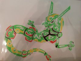 tribal rayquaza commission by neodragonarts