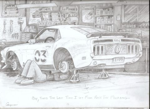 8 - Pencil Mustang Tinkering by DavidMach1