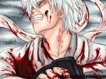 Gintama: a white demon in red by MasamuneRevolution