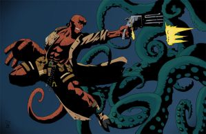 hellboy by ducksnake