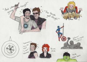 Avengers - Party Hard by honest-liar-13
