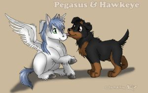 Pegasus- and Hawkeye Cub by RukiFox