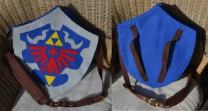 Hylian Shield messenger bag by Animus-Panthera