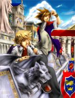 KH2-Lazyboys :colored by mandi-chan