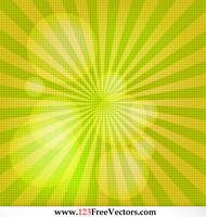 Free Sunburst Vector Background by 123freevectors