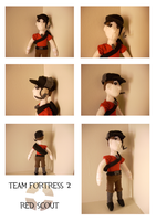 TF2 - RED Scout Plushie by MarqueeMoonGirl