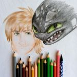 Hiccup and Toothless (Stil painting) by RachelRoss567