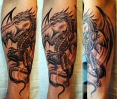 Gothic dragon by gettattoo
