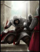Altair whips Templar ass by Destinyfall