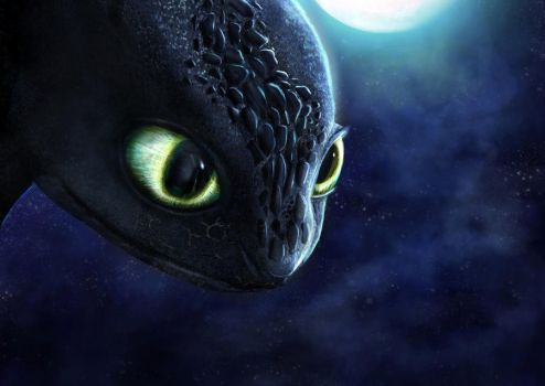 Toothless Re-Paint by KirbyMuffinz