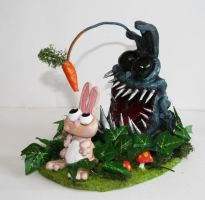 Angler bunny by richardsymonsart