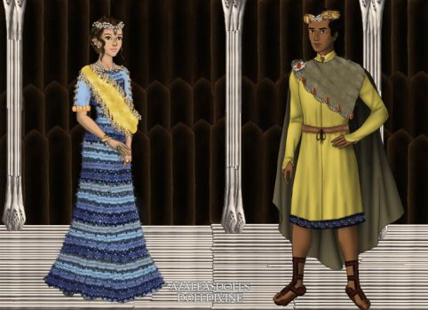 Cleopatra Selene and Juba II of Numidia by kaybay2323