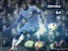 Demba Ba Wallpaper by FarukCelik