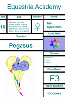 Iris Spectrum- Equestria Academy Application by SarahThePegasister
