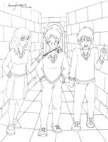 Harry Potter - Hermione, Harry e Ron by bruamapresunto