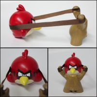 Angry Birds Munny by spilledpaint88