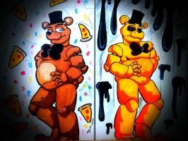 Freddy And goldie. by animedragon12000