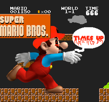 Super Mario : Times up by supermariofan54321