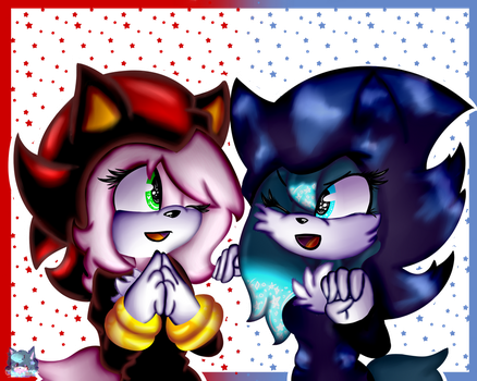Ame And Melody .:Collab:. by flame-finn-marce