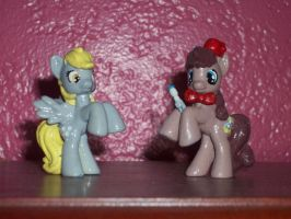 Doctor Whooves and Assistant Blindbag Customs by DragonsAndDreamscape