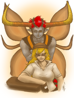 Sis and Summoner by CeruleanBoxes