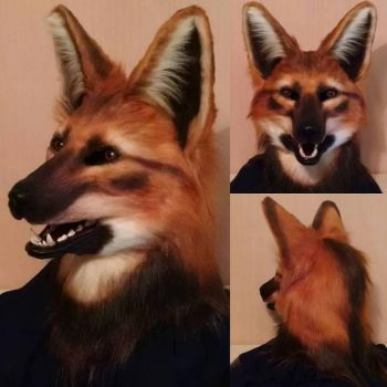 Maned Wolf Mask 12/2015 by netherdenstudio