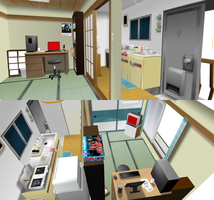 _3DCG to MMD_ Small room _DL_ by xXHIMRXx